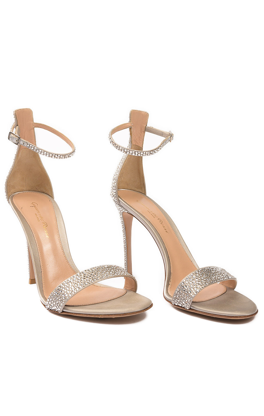 Front view of GIANVITTO ROSSI Sandals Size: 37.5/ 7.5