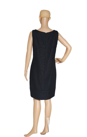 Back view of CHANEL Black Sleeveless Dress