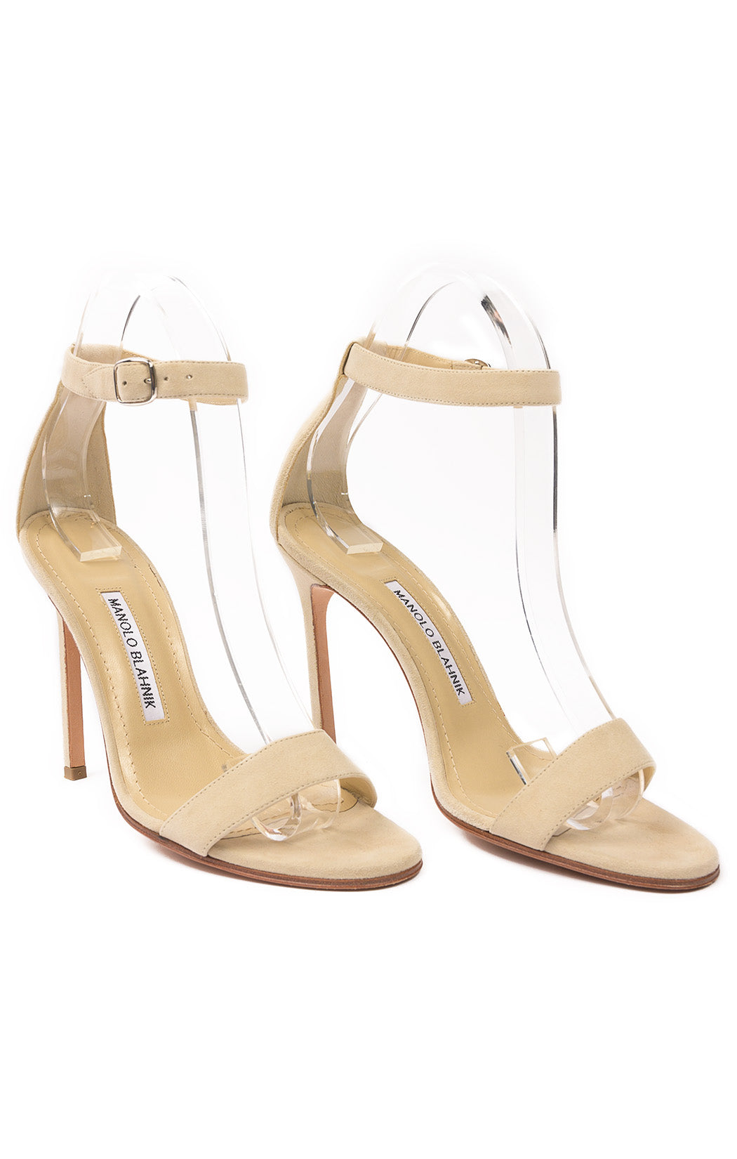 Front view of MANOLO BLAHNIK  Sandals Size: 37 / 7