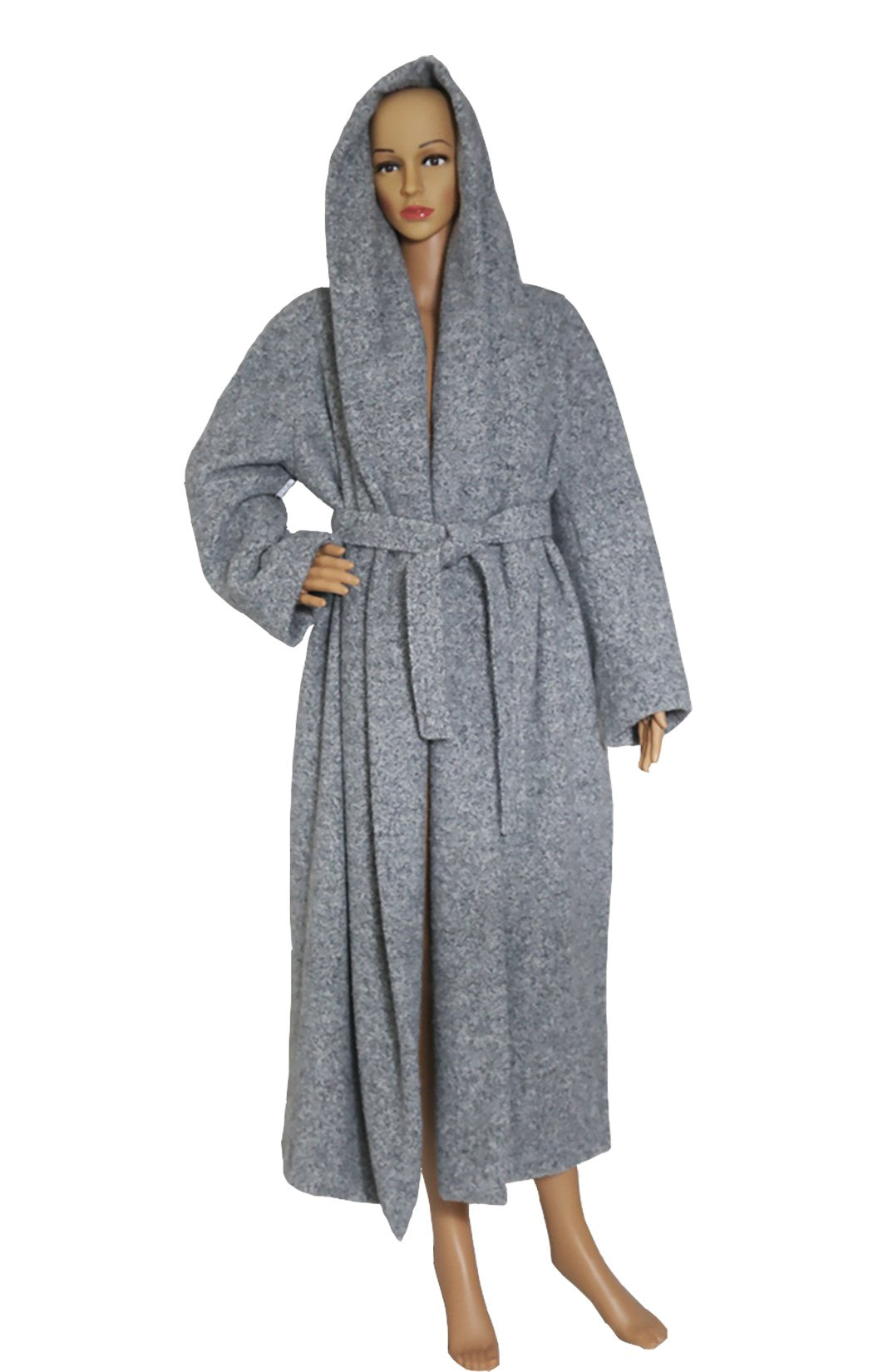 Front view of MAX MARA ATELIER Gray Wrap Coat Size: US 8