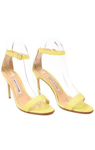 Front view of MANOLO BLAHNIK  Sandals Size: 37.5 / 7.5