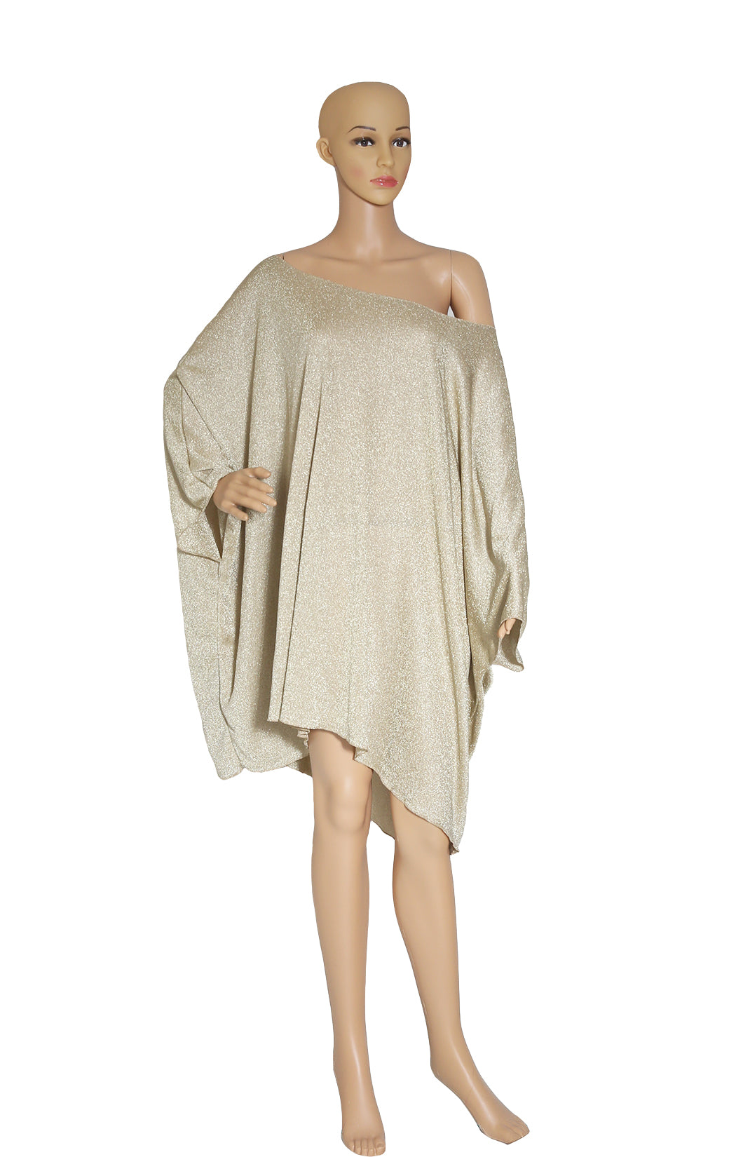 Front view of No Designer Gold Lurex Tunic Size: One Size