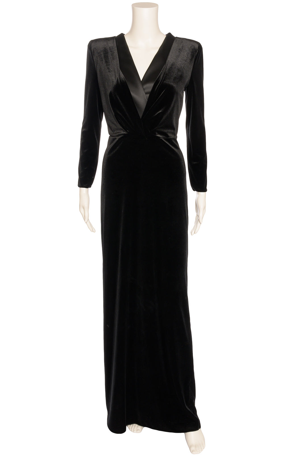 Front view of GIORGIO ARMANI  Long dress Size: IT 40 (comparable to US 4)