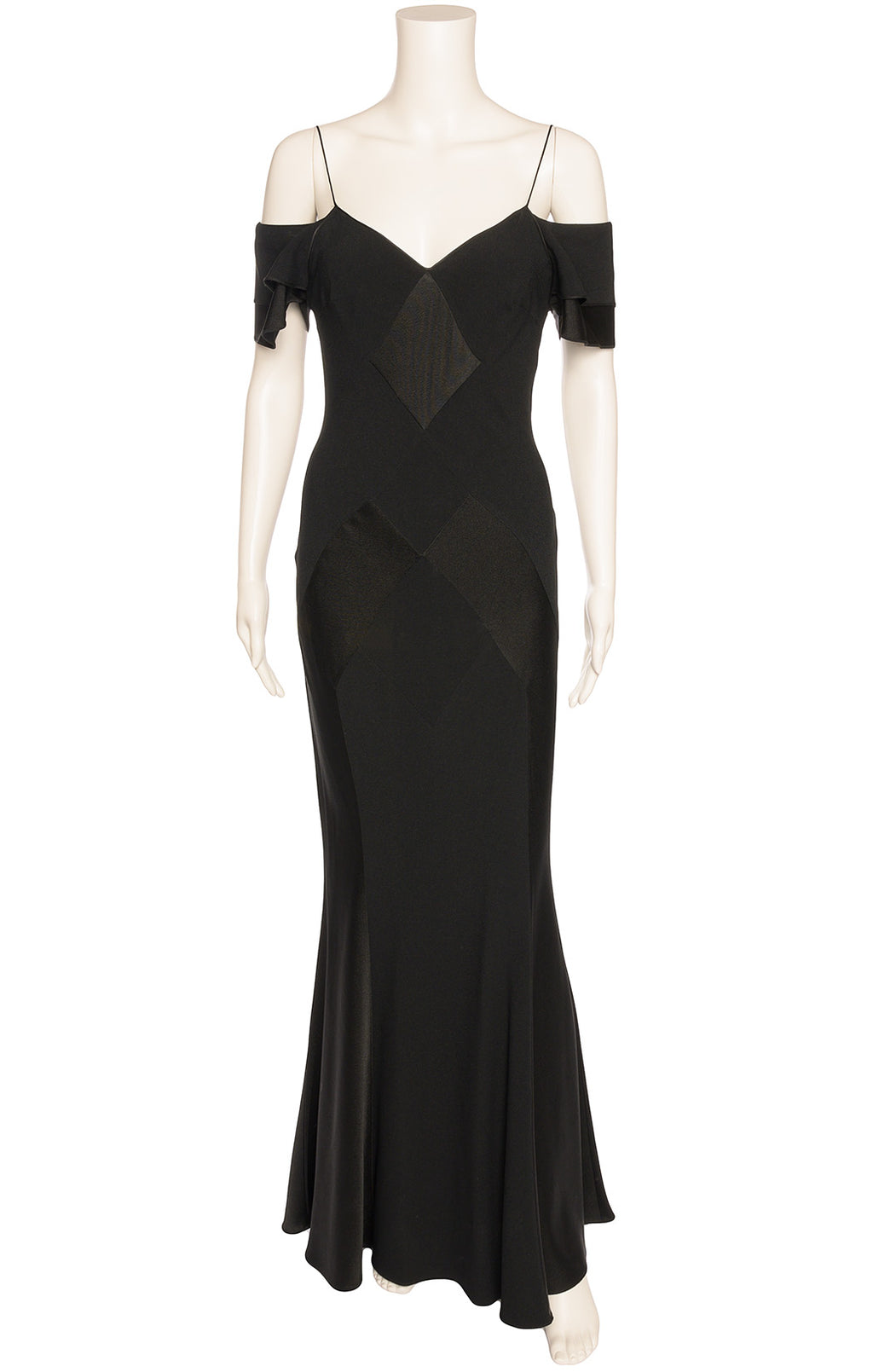 Front view of JOHN GALLIANO  Long dress Size: 10