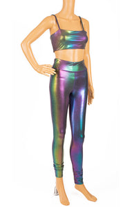 Front view of CARBON38 Leggings and bra Size: Small