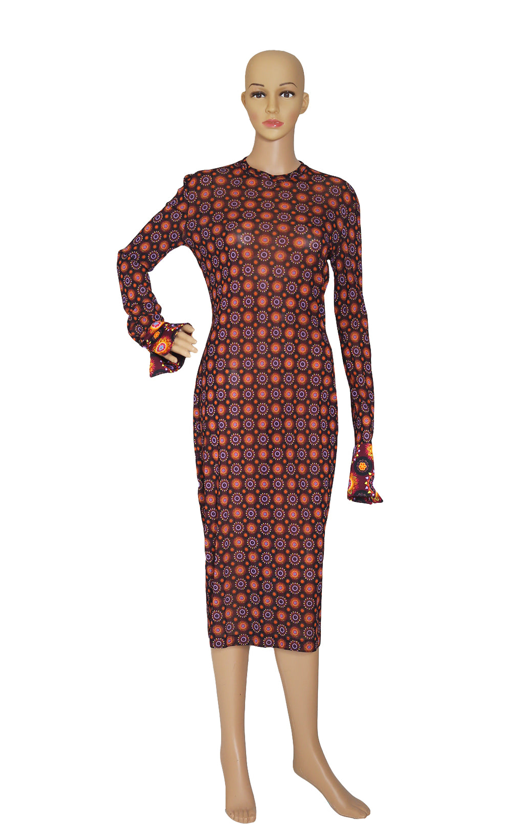Front view of GIVENCHY Print Dress Size: FR 40 (US 8)