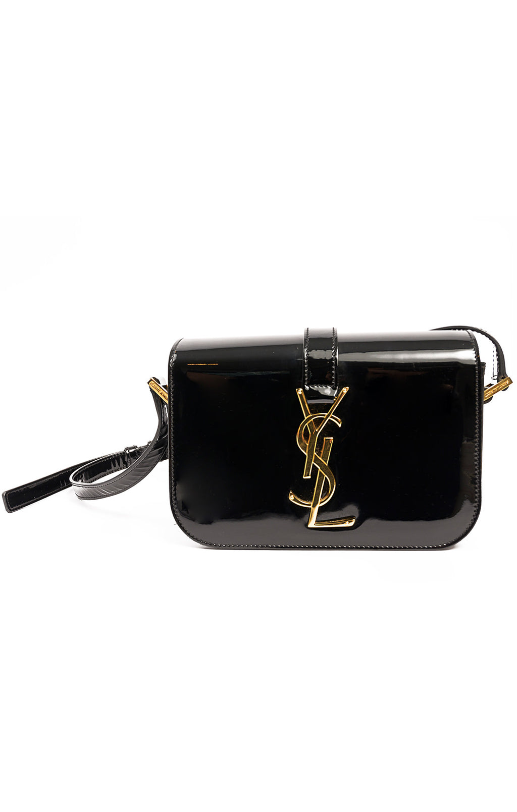 "Front view of YVES SAINT LAURENT  Purse Size: 6.75"" W x 4.75""H x 2"" D"