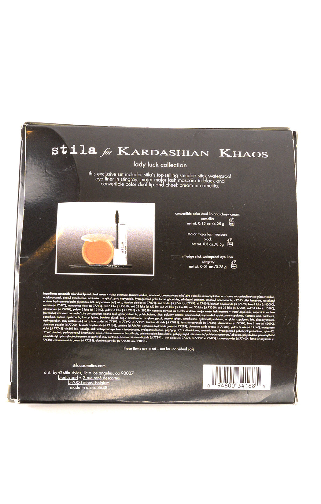 Back view of KARDASHIAN KHAOS Make up