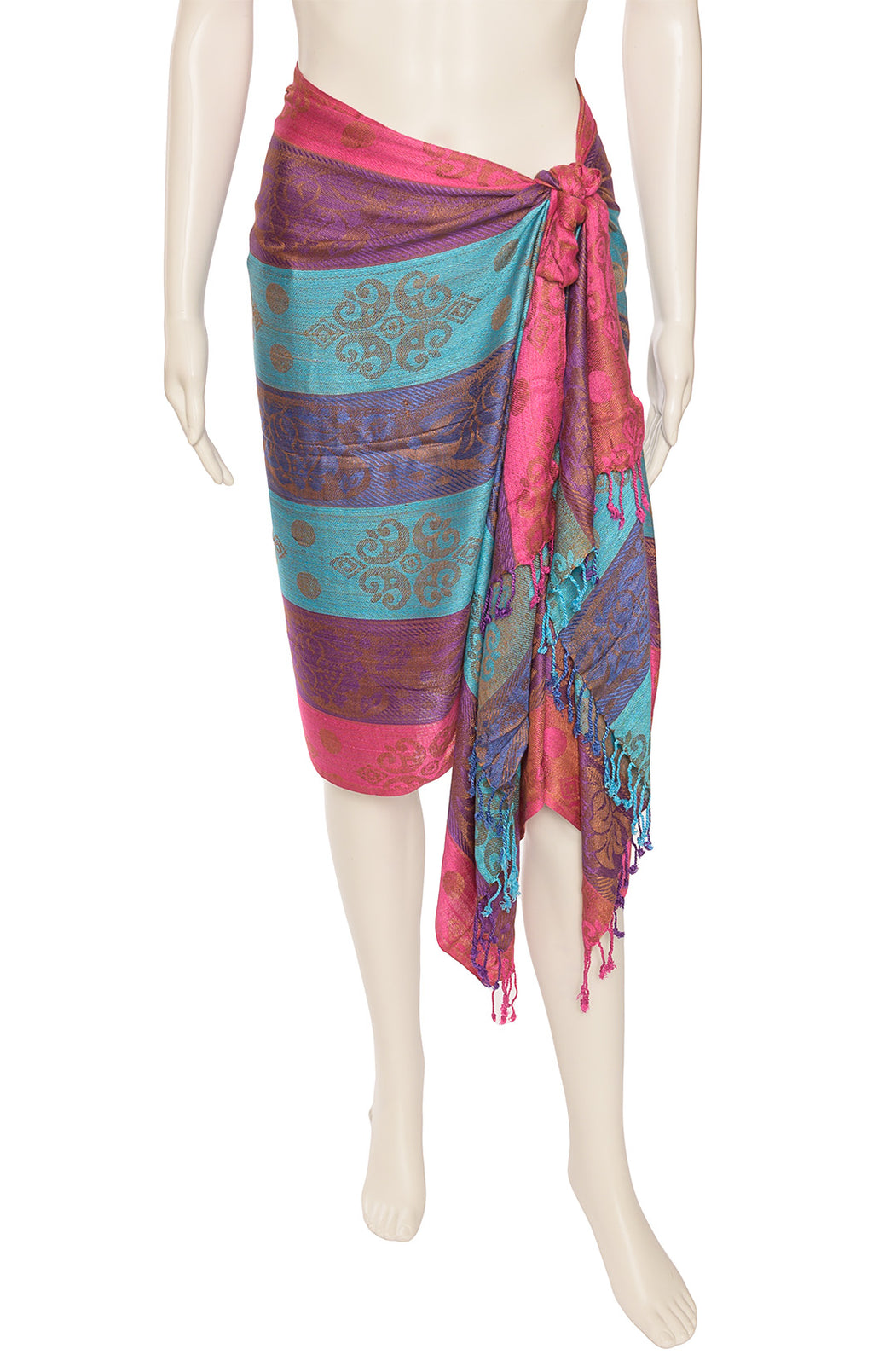 "Front view of NO NAME Shawl/ Sarong Size: 72"" L x 26"" W"