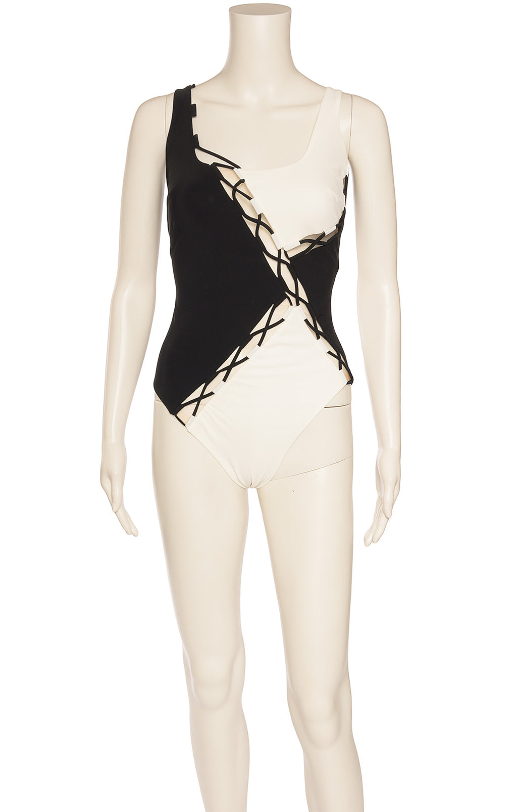 Front View of AGENT PROVOCATEUR with tags One piece bathing suit  Size: 4