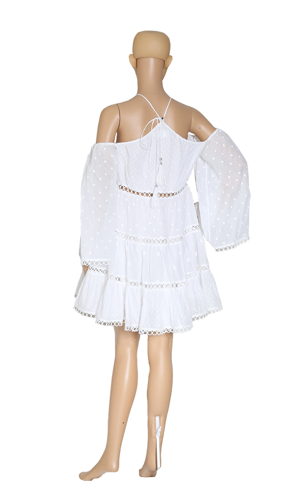 Back view of ZIMMERMANN White Dress