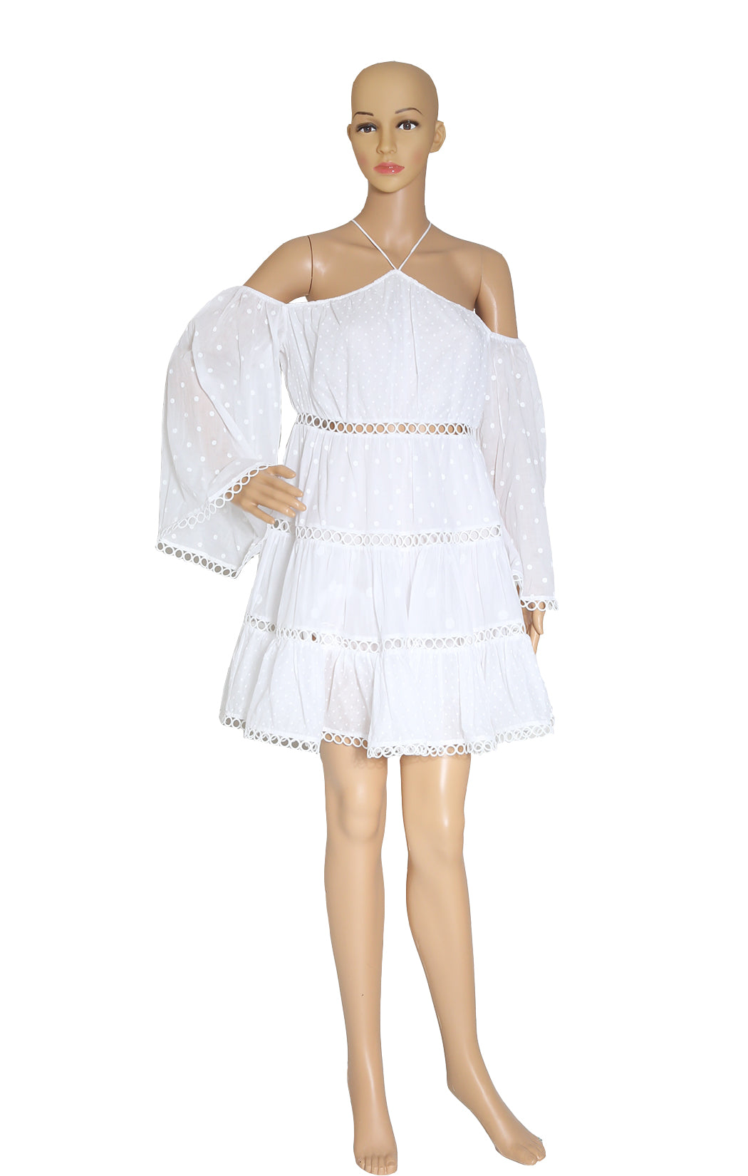 Front view of ZIMMERMANN White Dress Size: Medium
