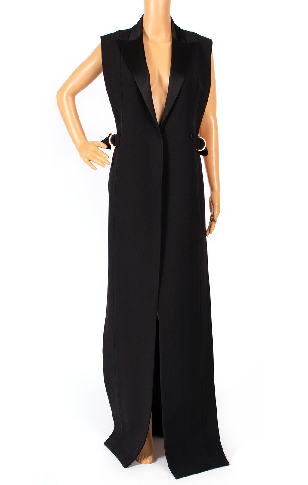 Front view of BALMAIN Long vest (floor length) Size: FR 36 (comparable to US 4)