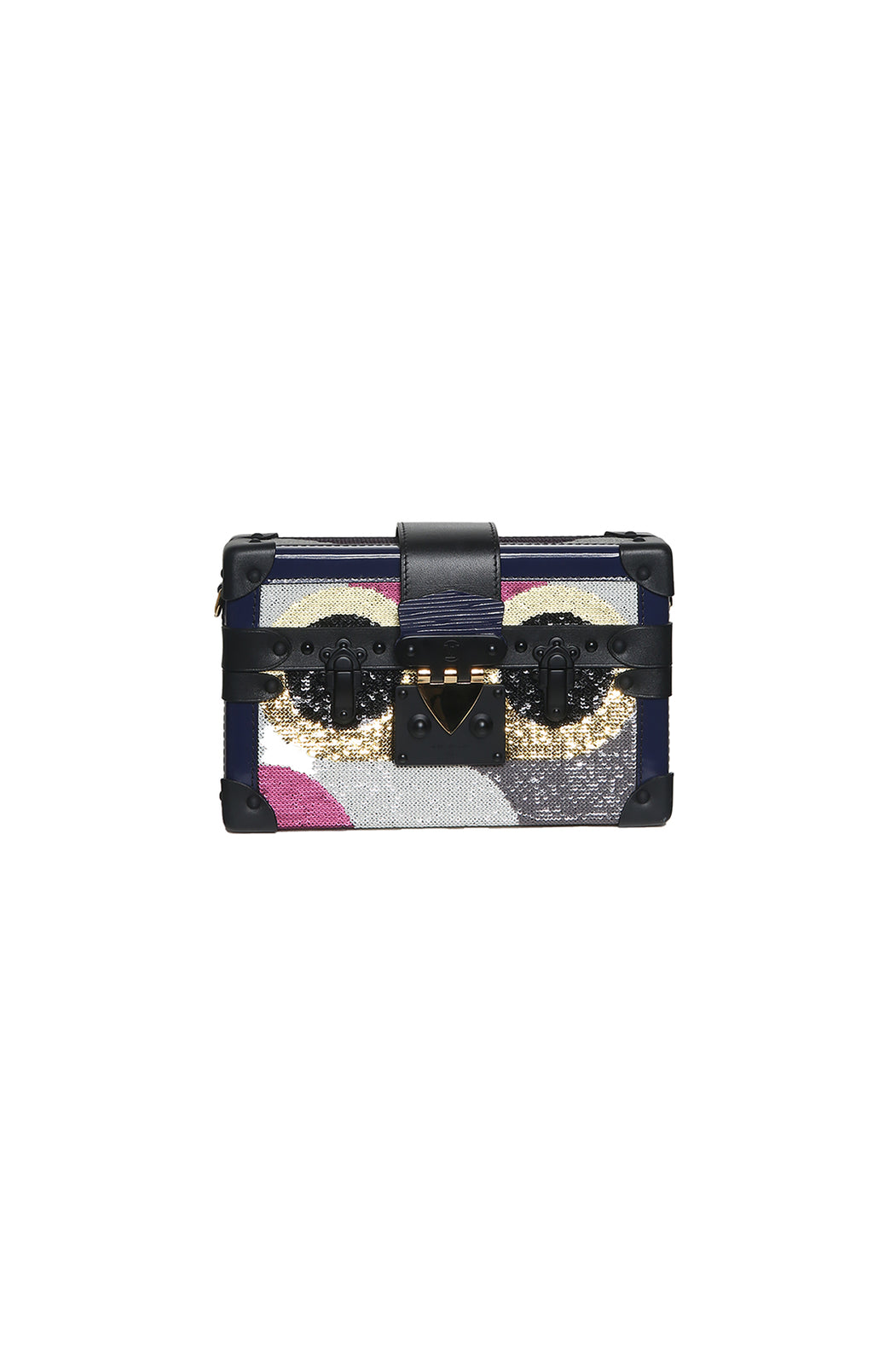 Front view of LOUIS VUITTON Beaded Clutch Size: 7.5 x 5 x 2 in.