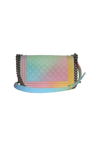 Back view of CHANEL Rainbow Leather Purse