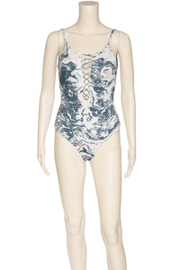 Front view of OLA FEROZ with tags One piece bathing suit  Size: Medium