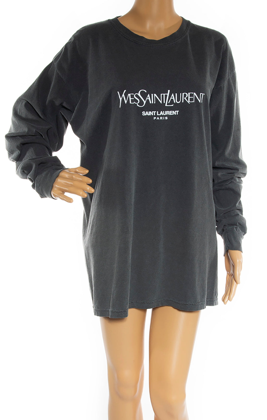 Closeup of YVES SAINT LAURENT  T-Shirt Size: No tags, fits like Medium