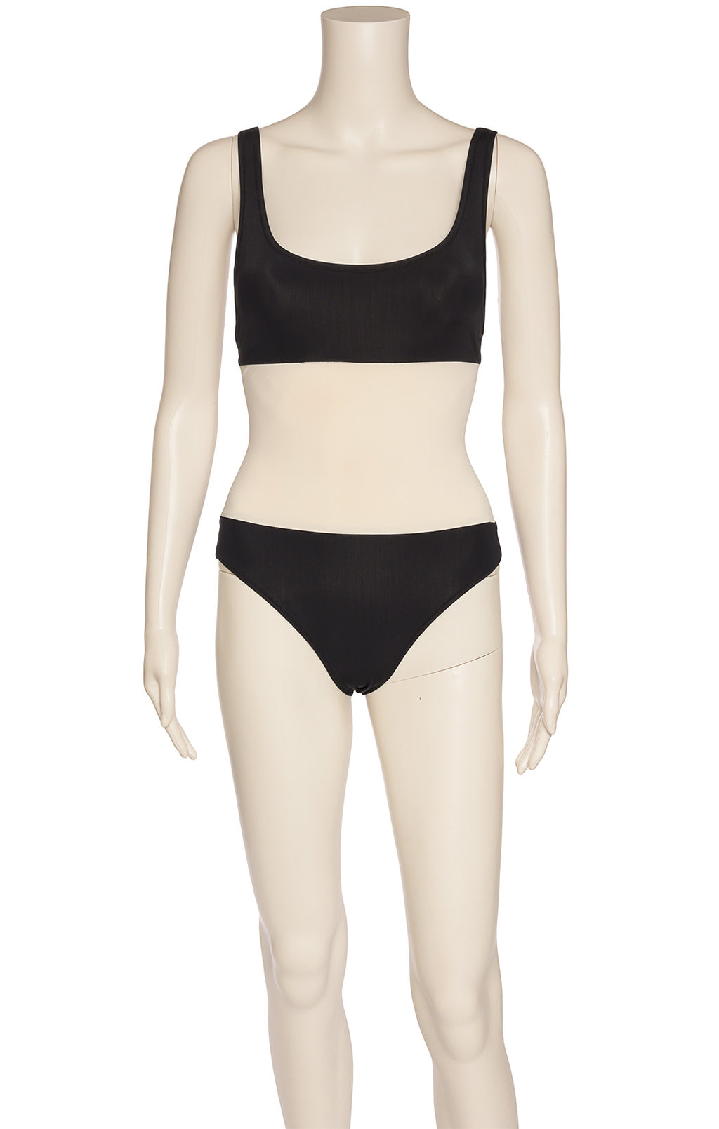 Front view of SOLID AND STRIPE One piece bathing suit Size: Medium