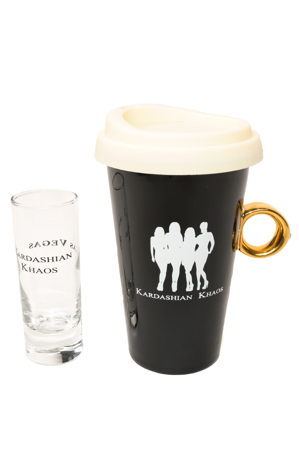 View of KARDASHIAN KHAOS Coffee cup and shot glass Size: O/S