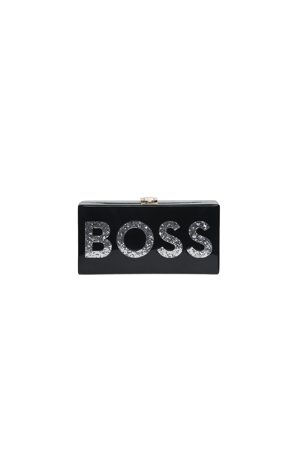 Front view of MILLY BOSS Clutch with Tags Size: 8 x 4 x 2 in.