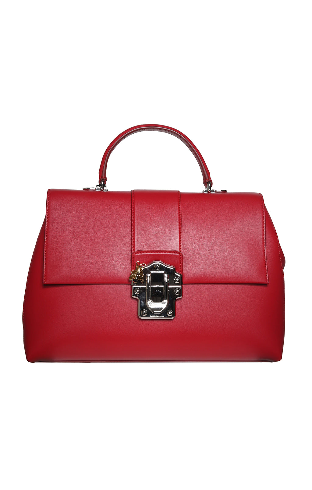 Front view of DOLCE & GABBANA Red Purse with Tags Size: 15 x 11 x 5.5 in.
