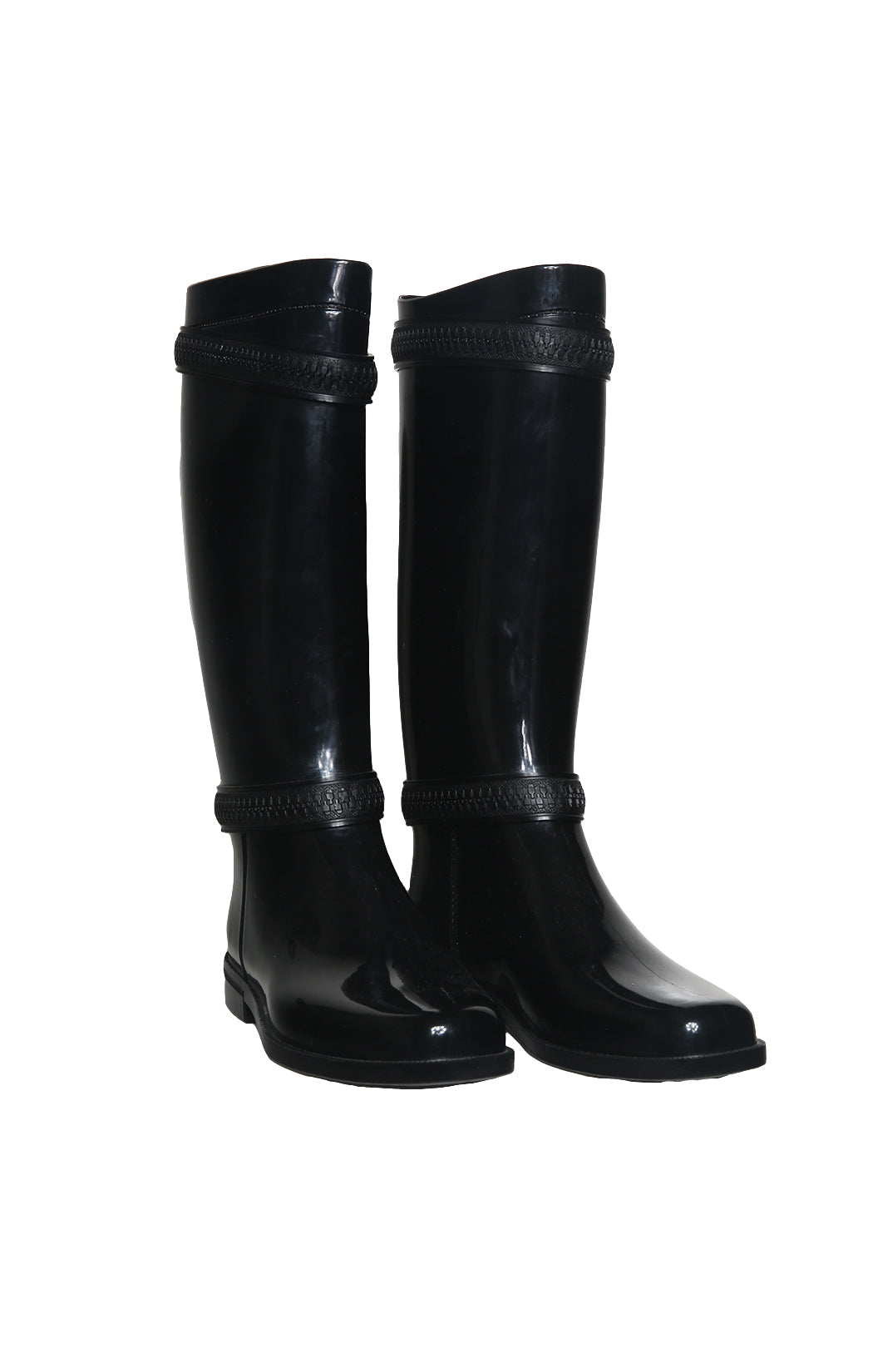 Front view of GIVENCHY  Rain Boots Size: 39 (US 9)