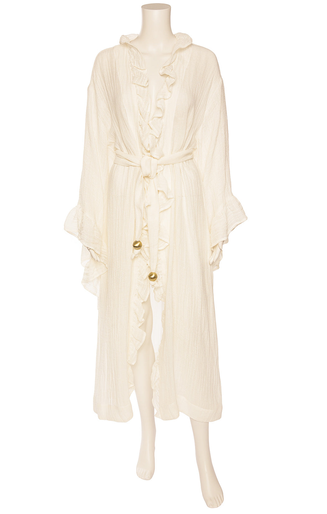Front view of LISA MARIE FERNANDEZ  Robe/Coverup/dress Size: Medium