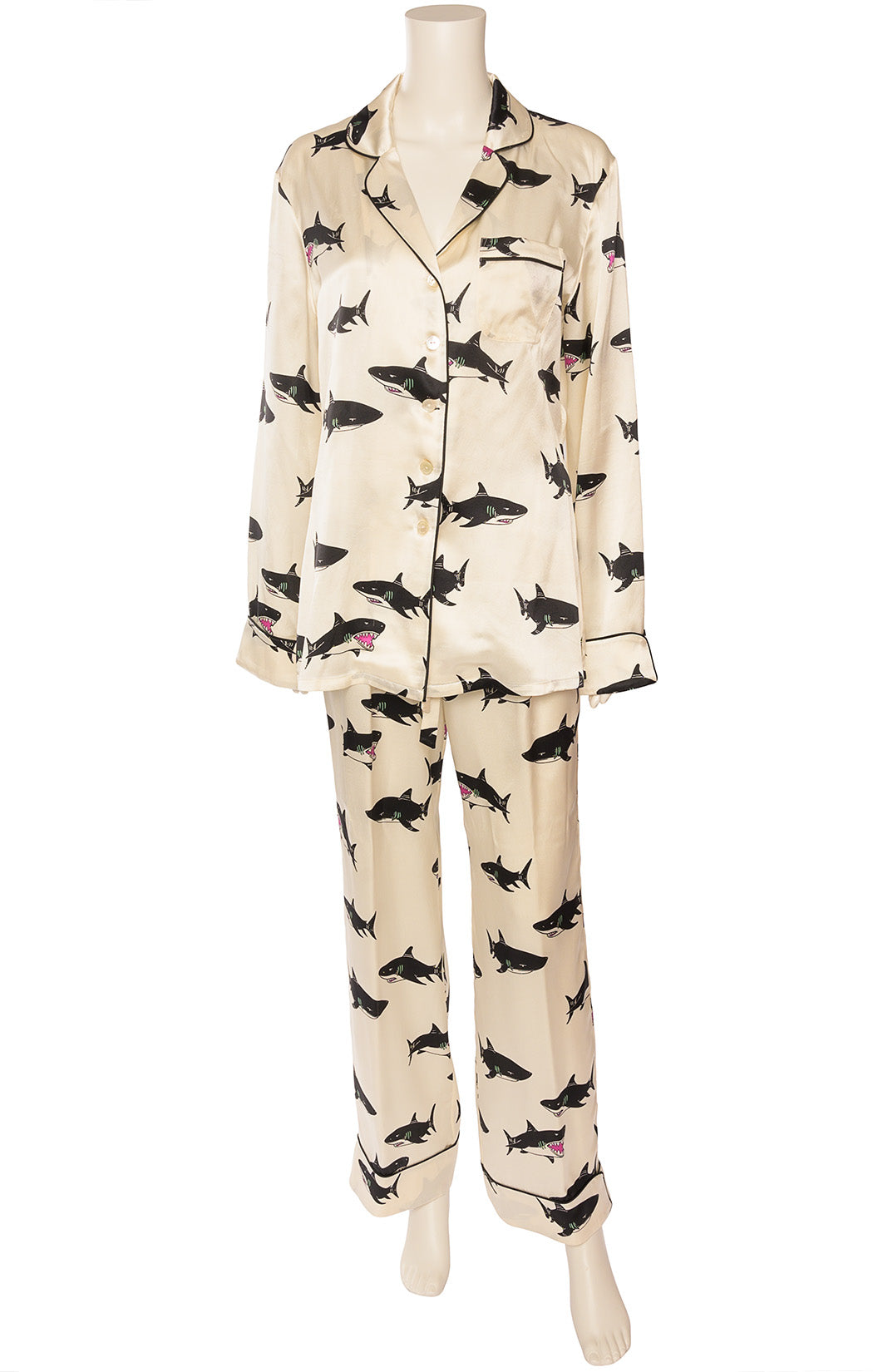 Front view of OLIVIA VON HALLE Pajamas Size: Medium