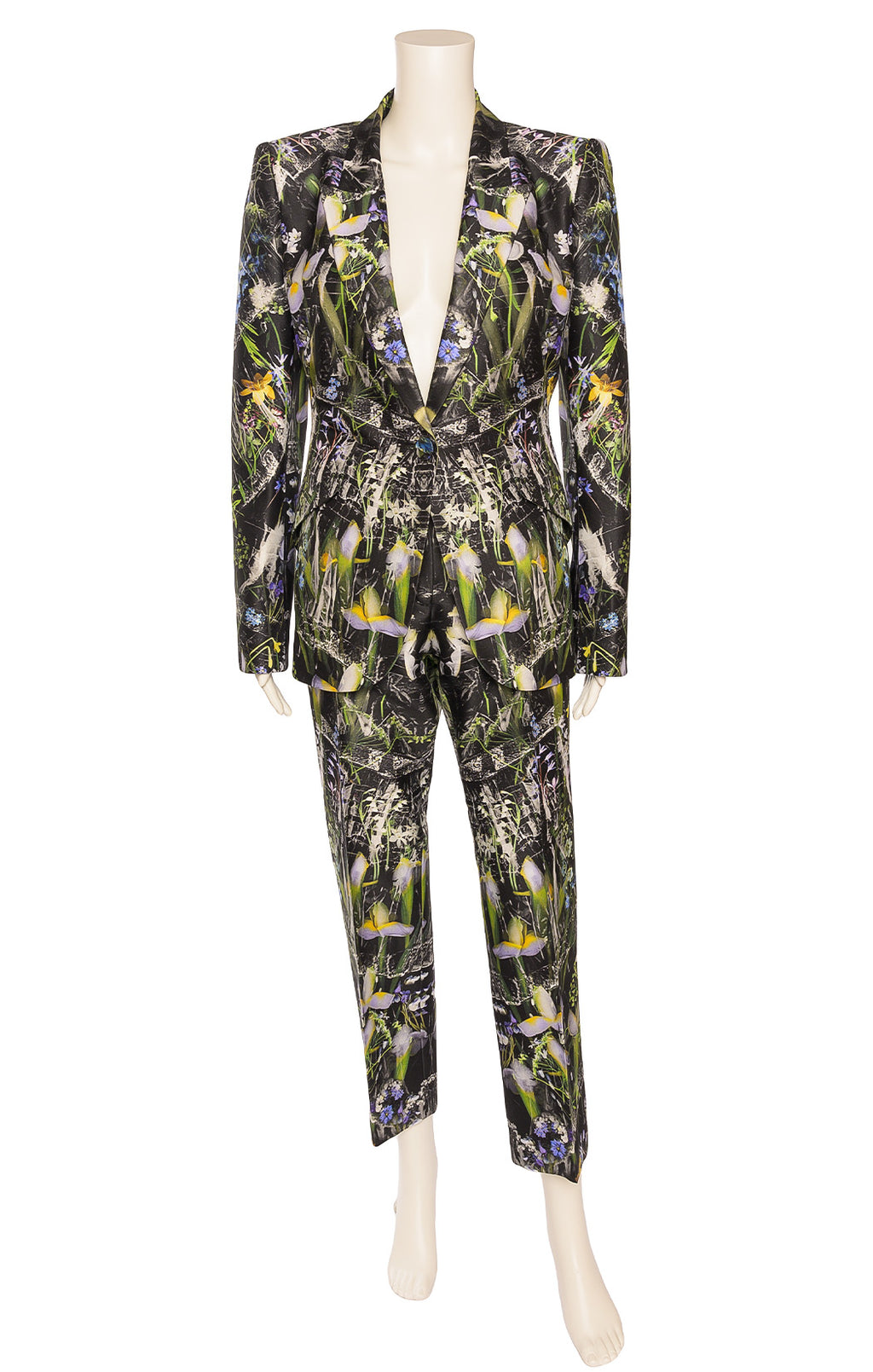 Front view of ALEXANDER MCQUEEN  Pants suit Size: IT 46 (comparable to US 10)