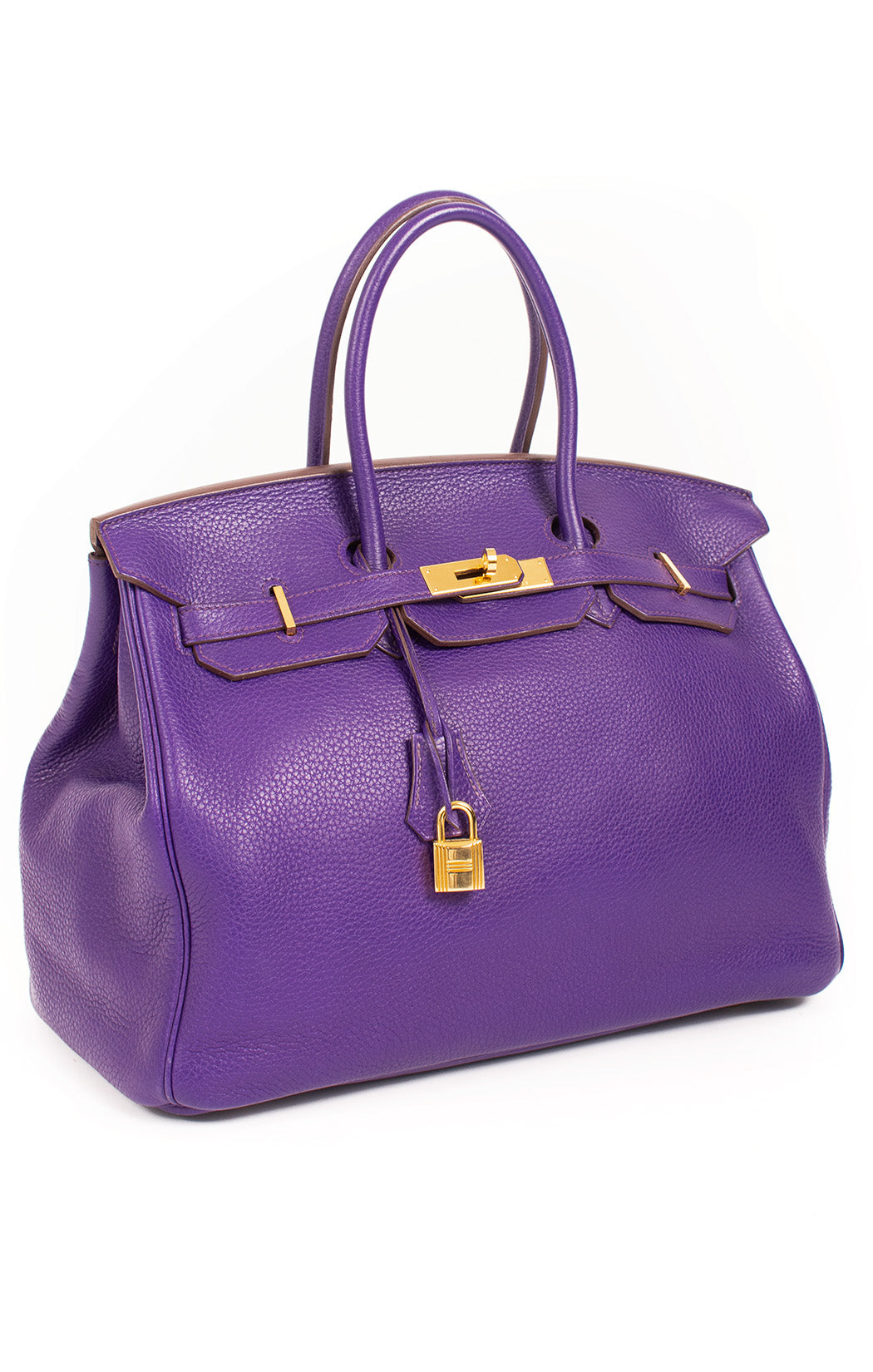 "Front view of HERMES Birkin 30 Handbag Size: H-11.75"", W-13.25"", D-7"", handle drop 4"""