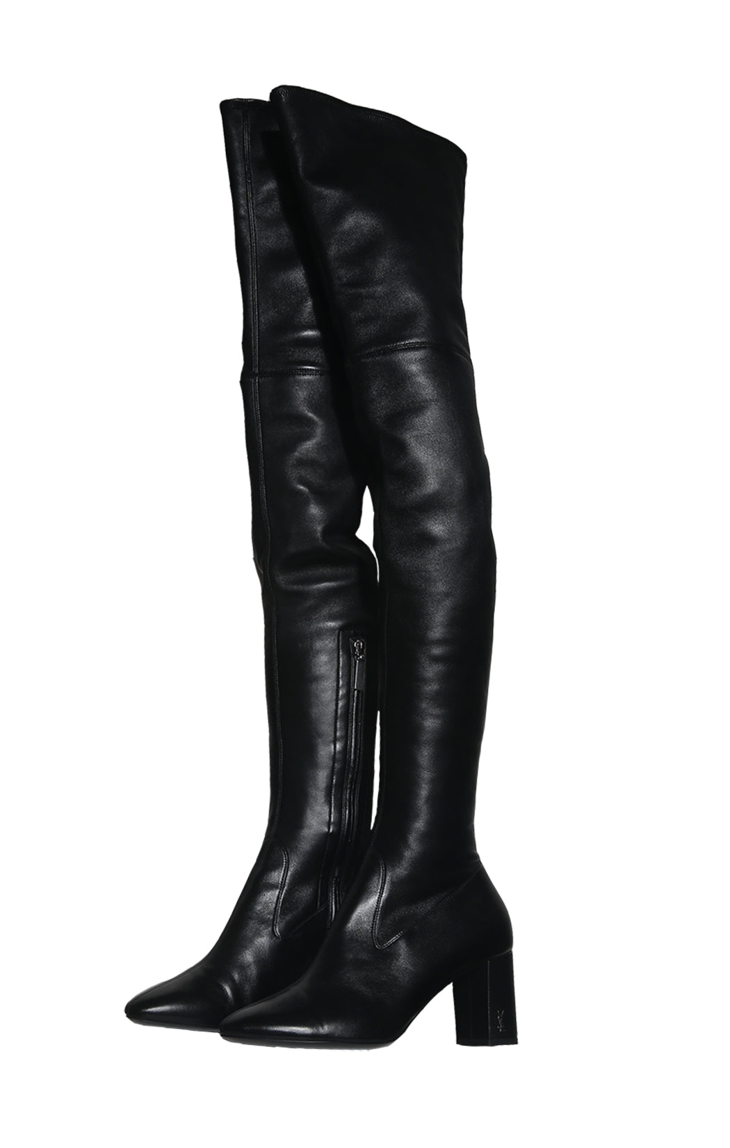 Front view of SAINT LAURENT Over The Knee Boots Size: 39 (US 9)