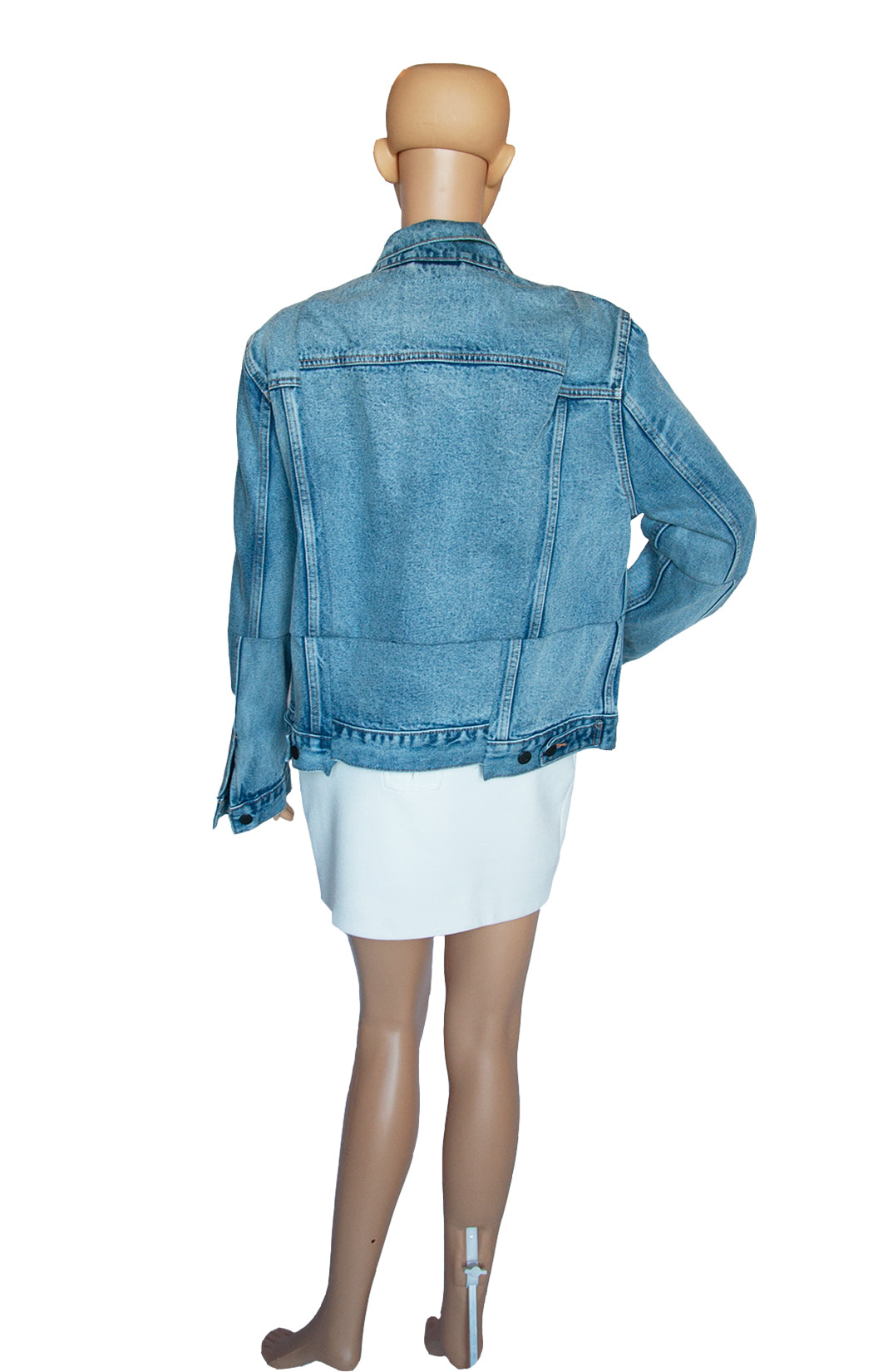 Back view of VETEMENTS Denim Jacket with Tags