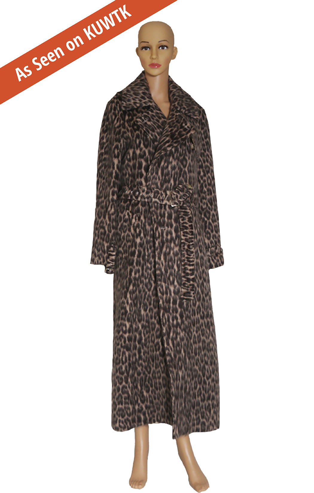As seen on KUWTK, Front view of MAX MARA Leopard Coat Size: US 8