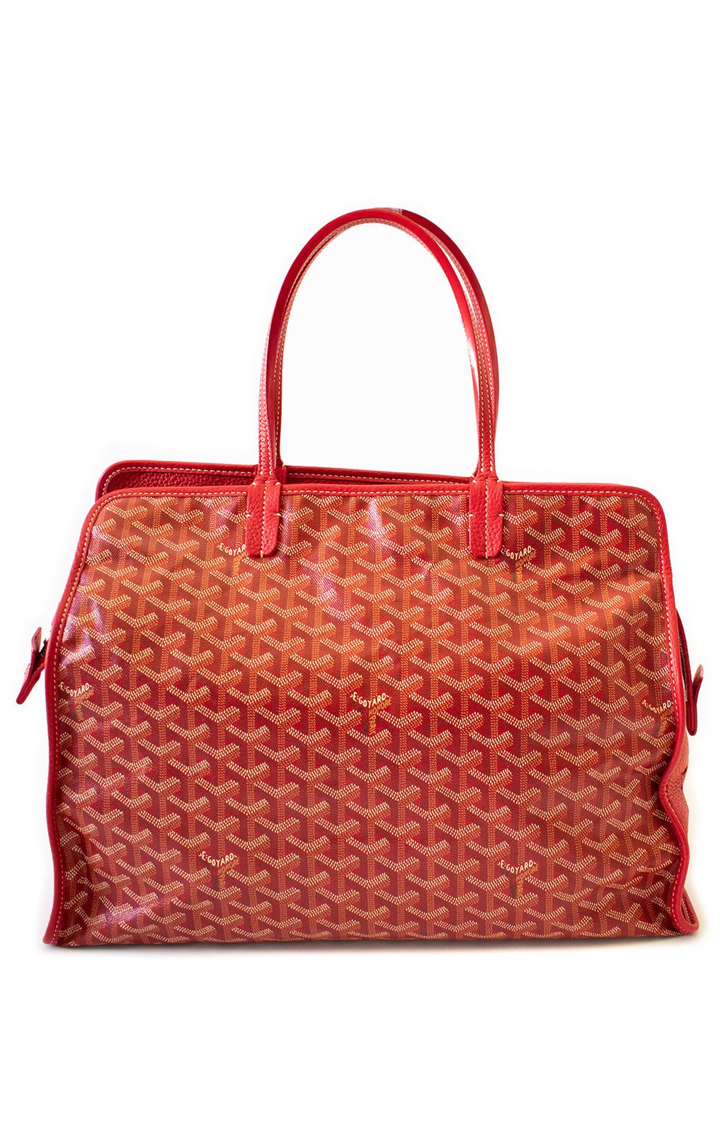 "Front view of GOYARD Pet Carrier Handbag Size: 12"" x 16"" x 7"""