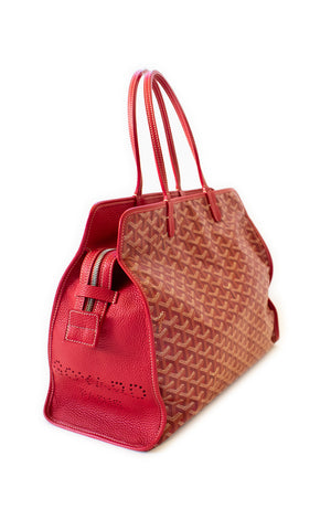 Side view of GOYARD Pet Carrier Handbag
