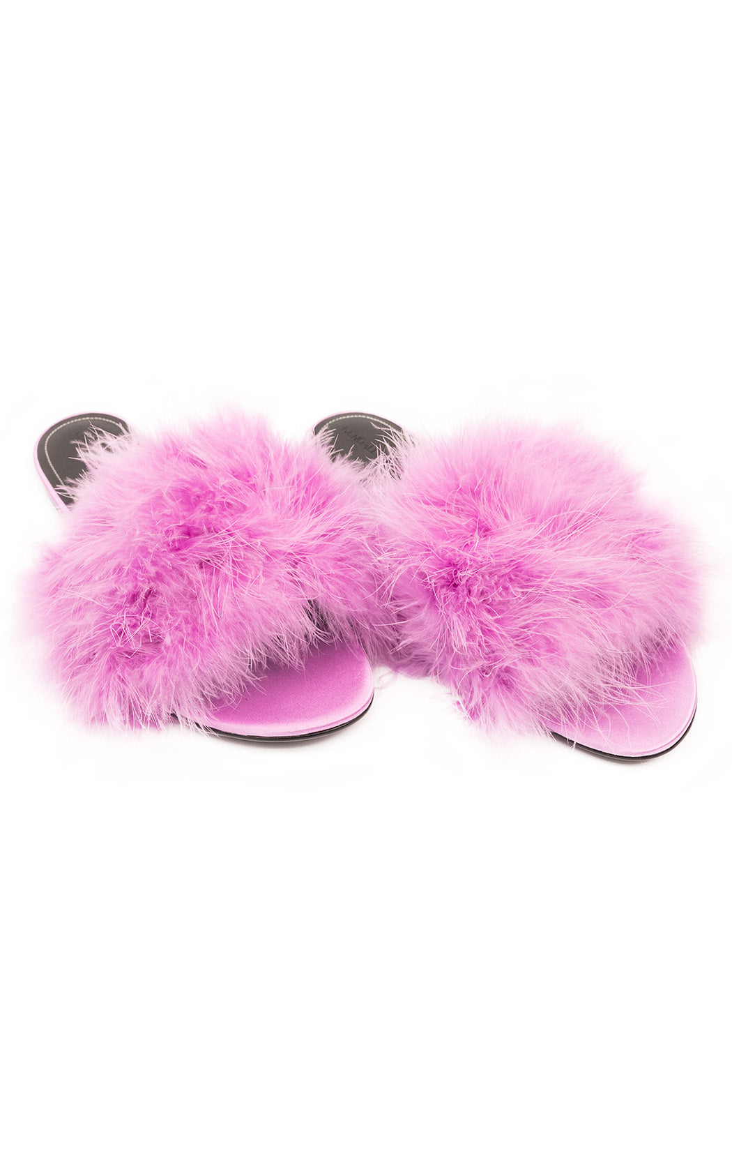 Purple marabou slides