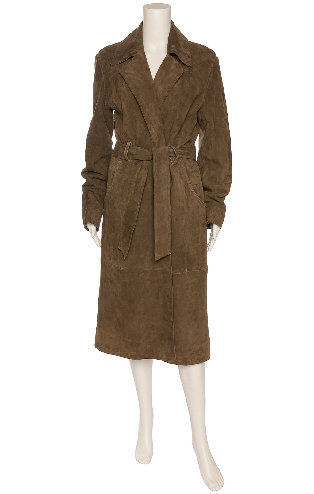 Brown Suede trench coat