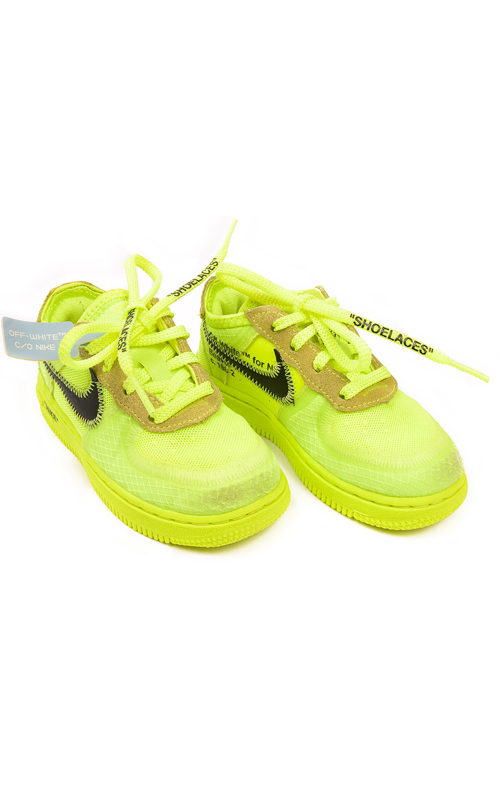 Front view of OFF WHITE C/O NIKE Tennis shoes Size: 9C toddler