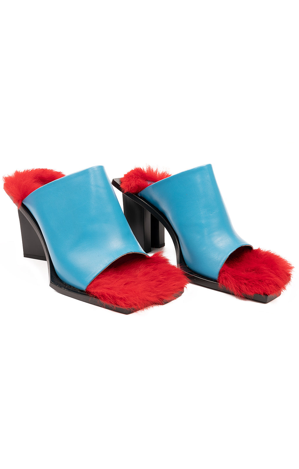 Turquoise with red fur lining slides