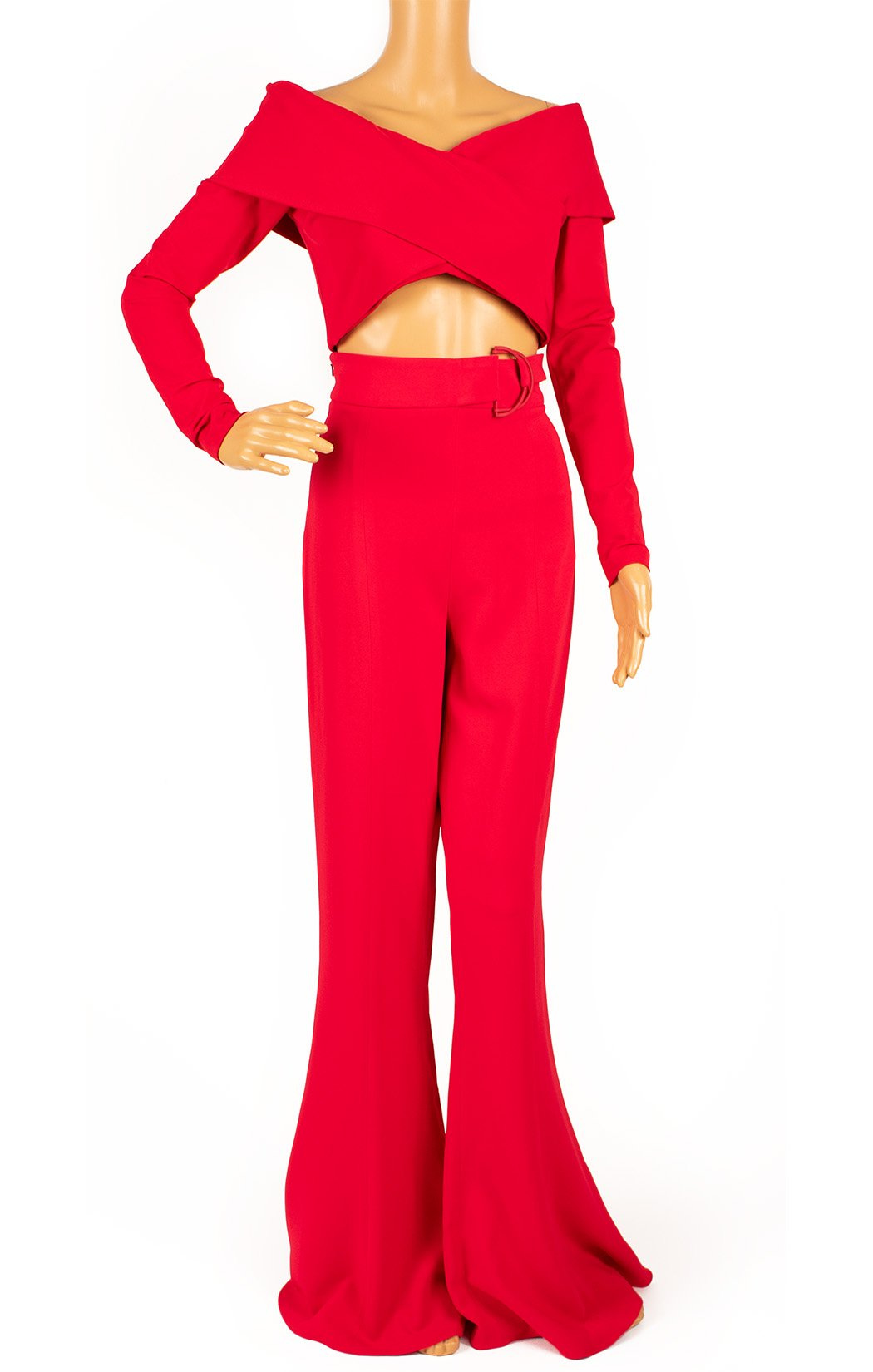 Front view of CUSHNIE ET OCHS Pant suit Size: Top is size 6, pant is size 8