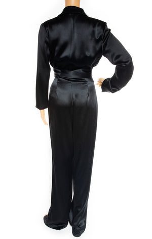 Back view of AREA Jumpsuit