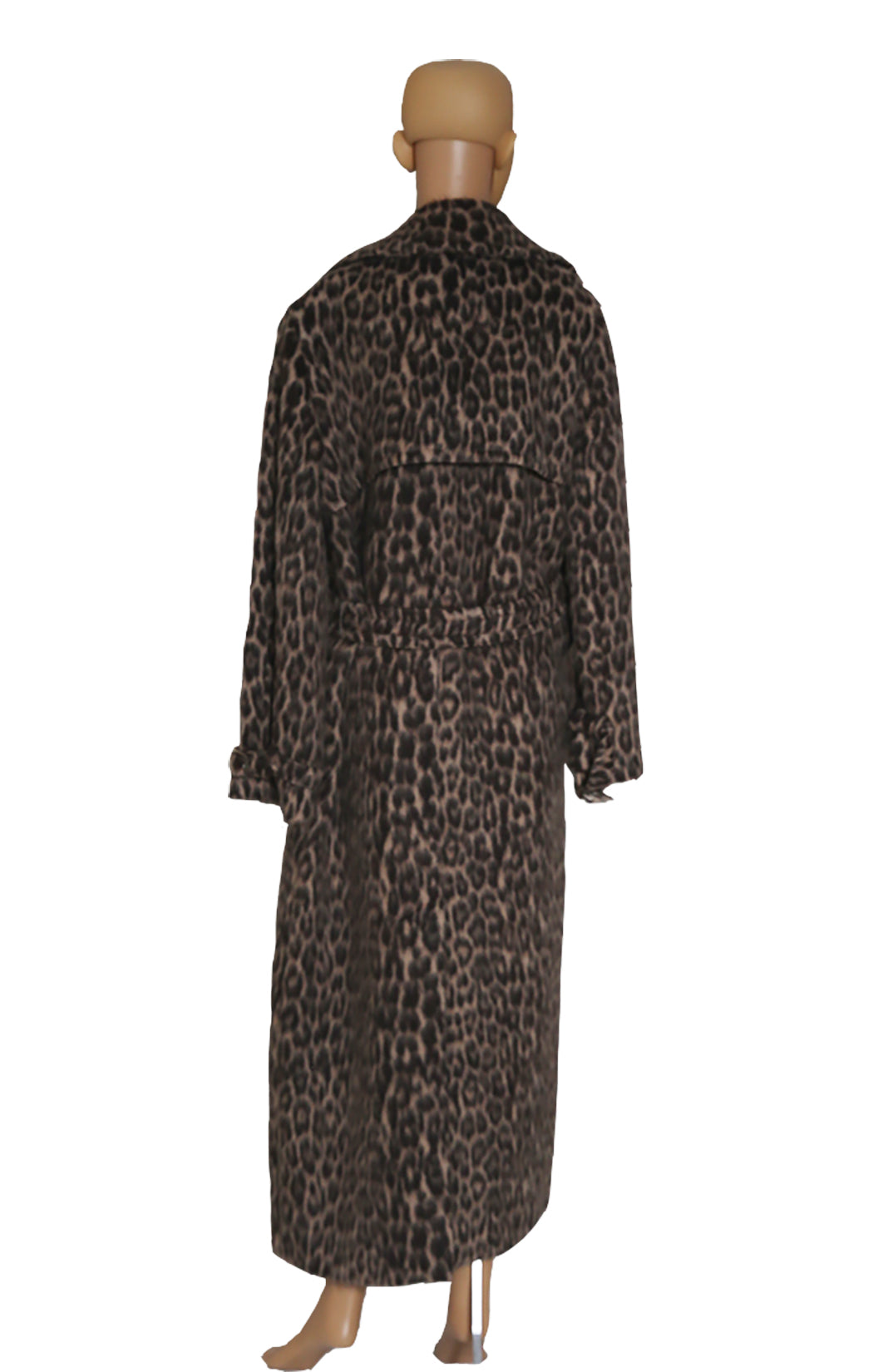 Back view of MAX MARA Leopard Coat