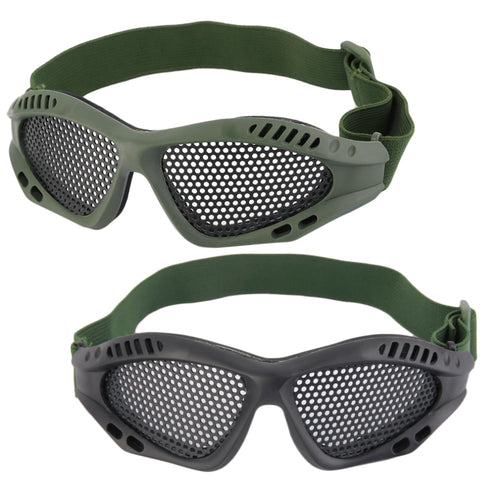f4470fd5e41 Tactical Camping Cycling Steel Mesh Eyes Protective Goggles Glasses Eyewear  Eye Protective Metal Mesh for CS