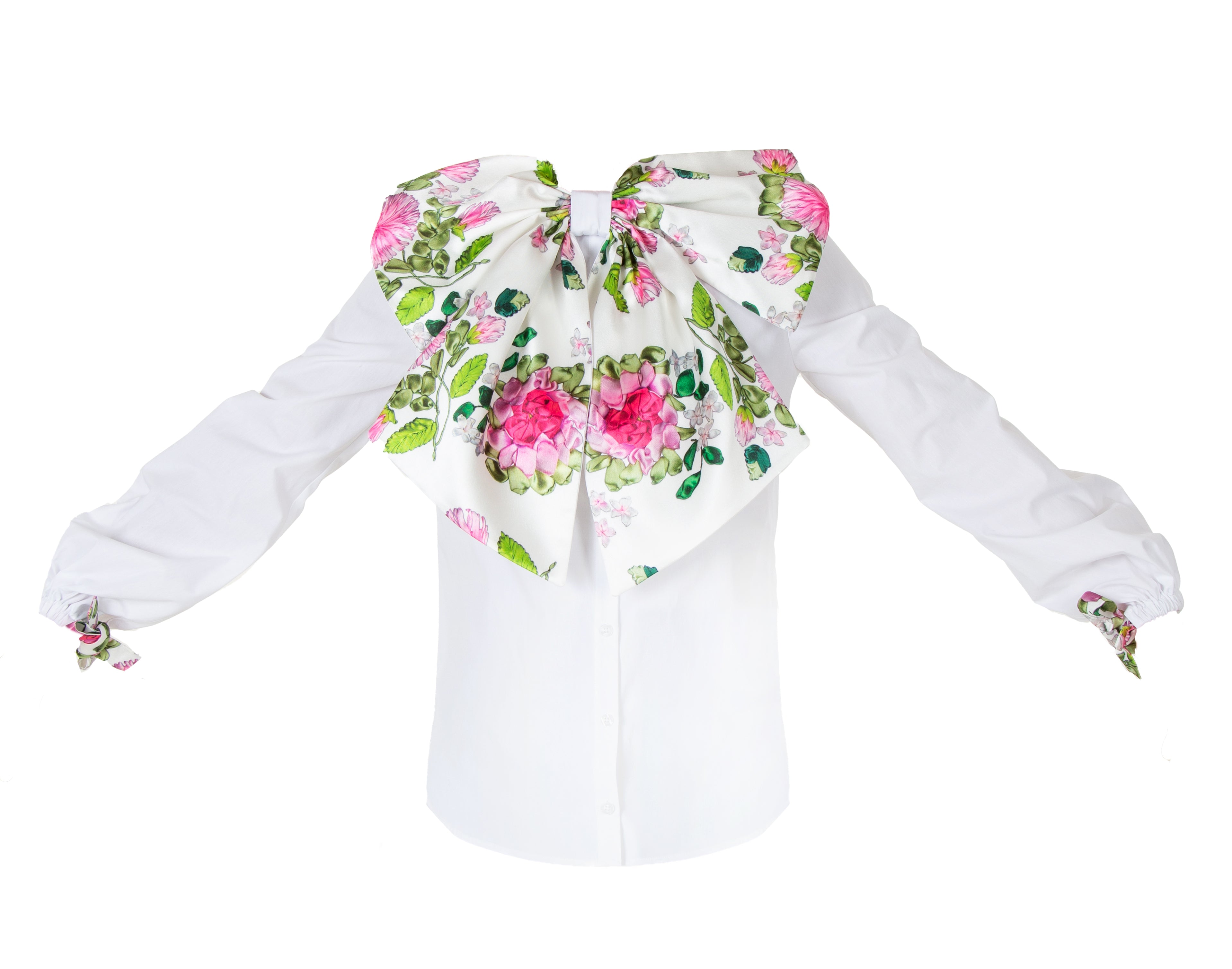 CHARLOTTE FLORAL BOW BLOUSE
