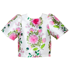 CARA FLORAL CROP WHITE