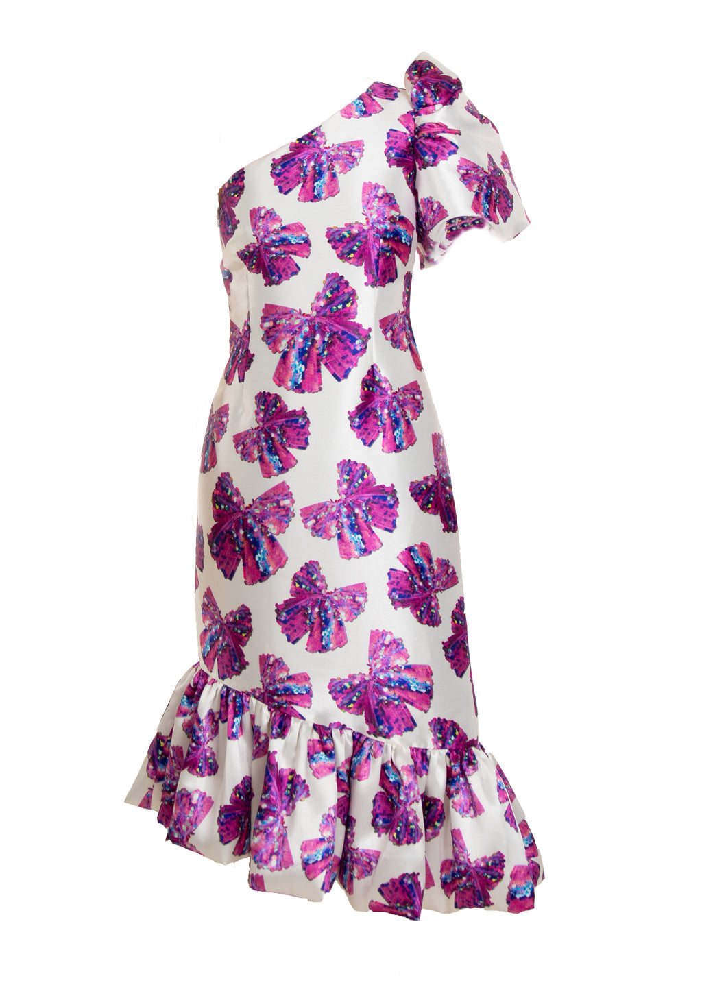 CARMEN BOW PRINT DRESS
