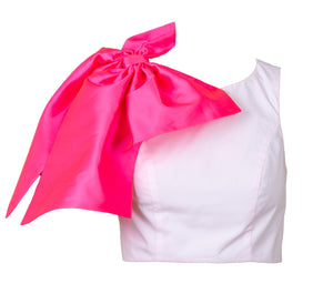 OLIVIA PINK BOW CROP