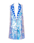 GISELE SEQUIN VEST BLUE
