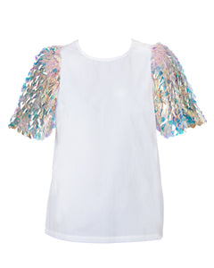 ELLE SEQUIN SLEEVE BLOUSE SOLD OUT