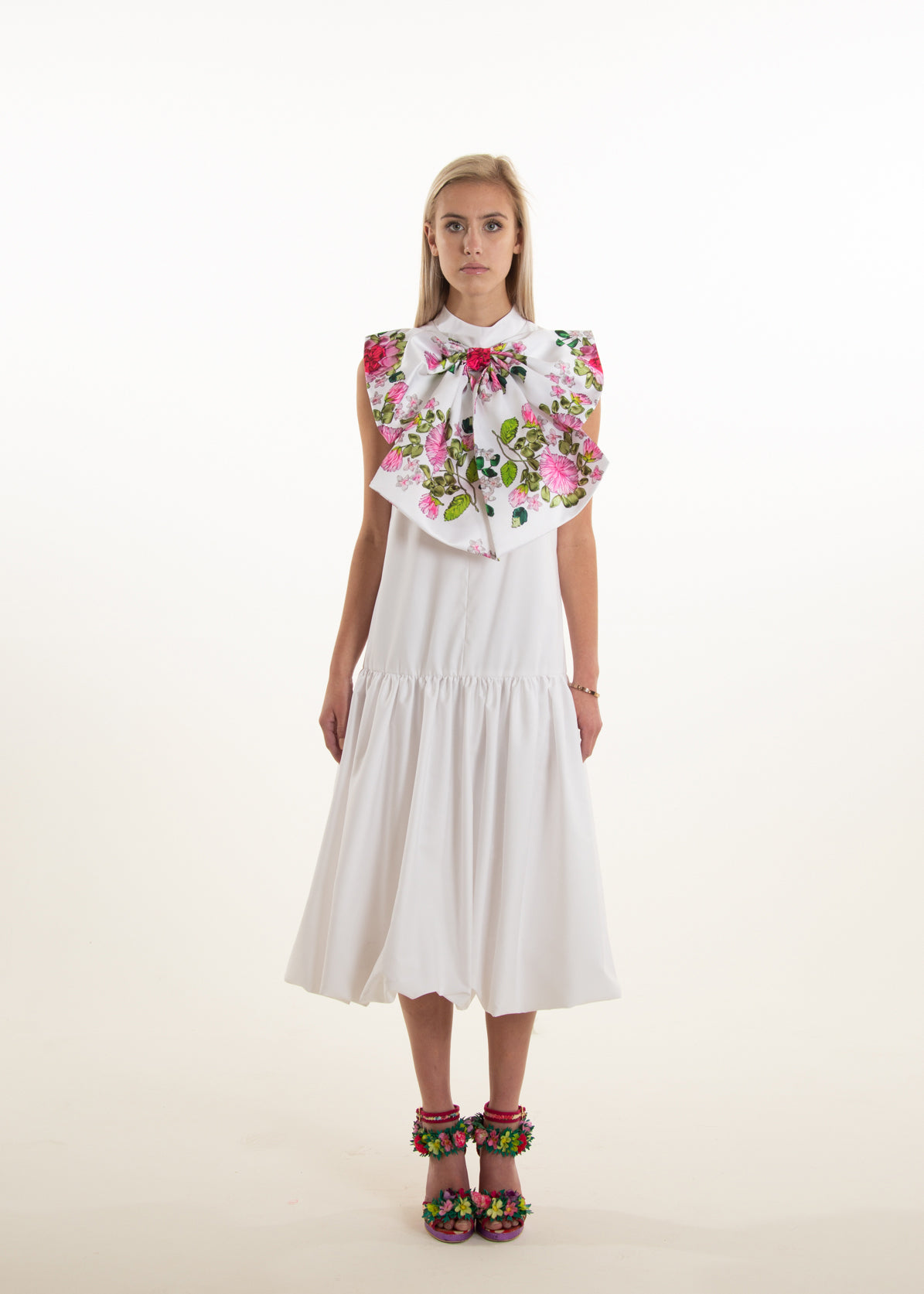 DIANE FLORAL BOW DRESS